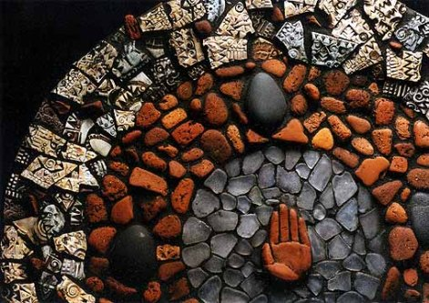 Detail: Hand Plate Mosaic