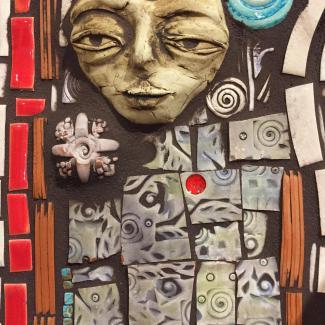Faced Arch Mosaic detail