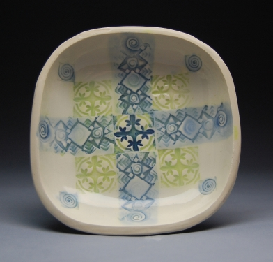 Yasenchack bowl Blue and lime