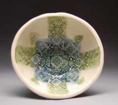 Yasenchack bowl Blue and Olive